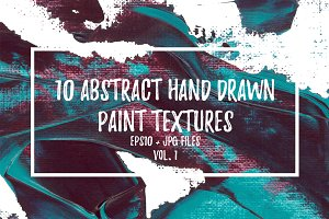 10 Abstract Paint Textures (EPS+JPG)