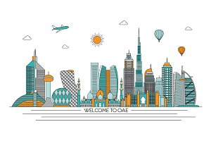 United Arab Emirates skyline