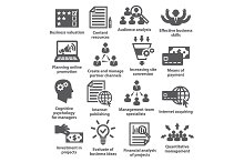 Business management icons. Pack 09.