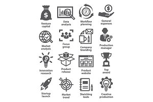 Startup and development icons