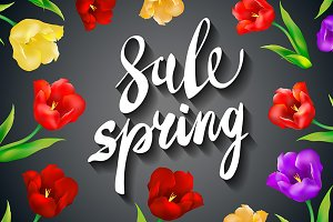 grey Spring Sale colorful tulips