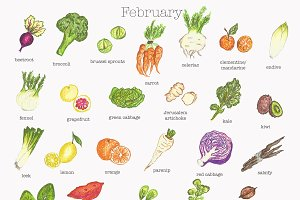 February fruit and vegetable