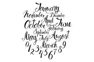 Months, seasons and numbers