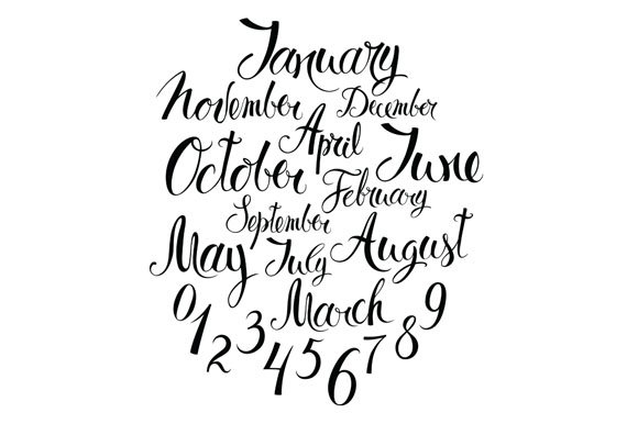 Months Seasons And Numbers Graphic Objects Creative Market