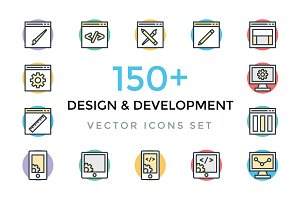 150+ Design and Development Icons
