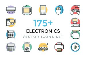 175+ Electronics Vector Icons