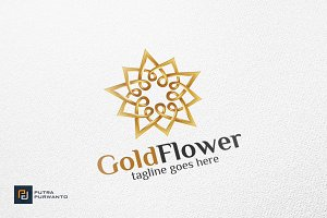 Gold Flower - Logo Template