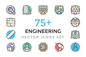 75+ Engineering Vector Icons