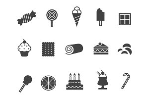 12 Sweet and Confectionary Icons