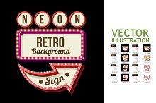 8 Night Retro Sign with Lights