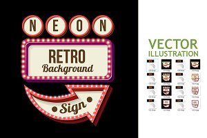 8 Night Retro Sign with Lights