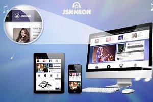JSN Neon - Music Theme & JomSocial
