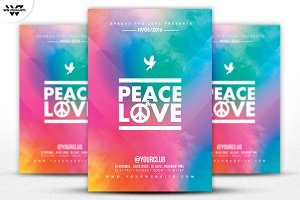 PEACE & LOVE Flyer Template