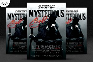 MYSTERIOUS DARK Flyer Template