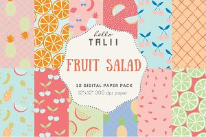 Fruit Salad Digital Paper Pack