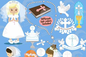 First Communion Clipart AMB-1255
