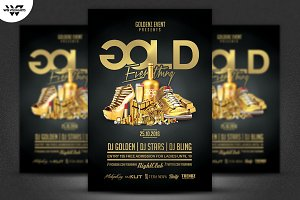 GOLD CLASSY VIP Flyer Template