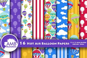 Hot Air Balloon Papers AMB-1254