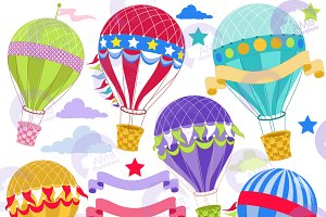 Hot Air Balloon Clipart, 1248