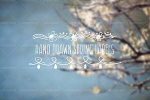 Hand drawn spring labels