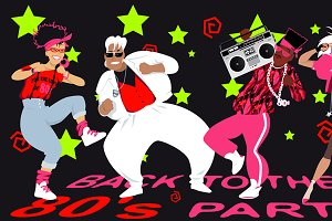 1980s dance party