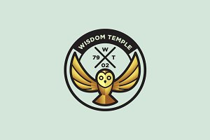 Wisdom Temple - Owl Logo
