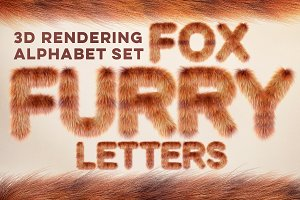 3D Fox Furry Letters Pack