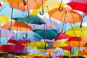 Umbrellas background