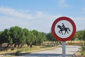 Horse riding prohibited