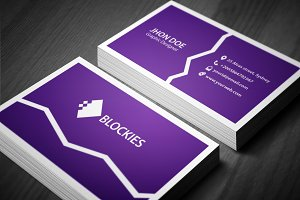Cracked Business Card Template
