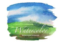 watercolor painted frame