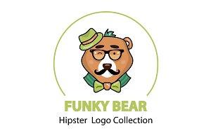 4 Hipster Bears: Logo Bundle