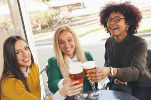 toasting with beer friendly