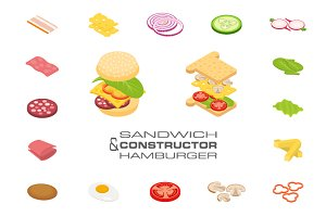 Constructor sandwich and hamburger