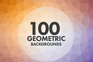 100 Geometric Backgrounds
