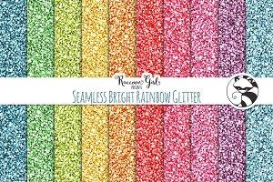 Seamless Bright Rainbow Glitter