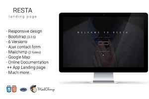 Resta- multipurpose+app landing page