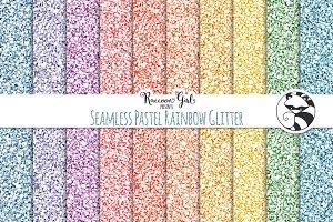 Seamless Pastel Rainbow Glitter