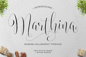 Marthina Script - Two Style