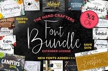 HandCrafters Font Bundle - 96% OFF