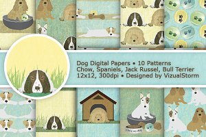 Cute Dog Paper Patterns
