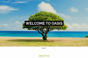 Oasis: One Page HTML Template