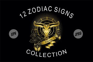 Golden signs of the zodiac