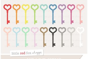 Heart Key Clipart