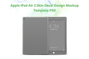 Apple iPad Air Skin Design Mock-up