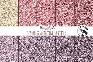 Seamless Valentines Glitter