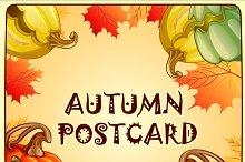 Autumn backgrounds and pumpkins set
