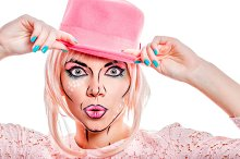 Creative makeup in style pop art