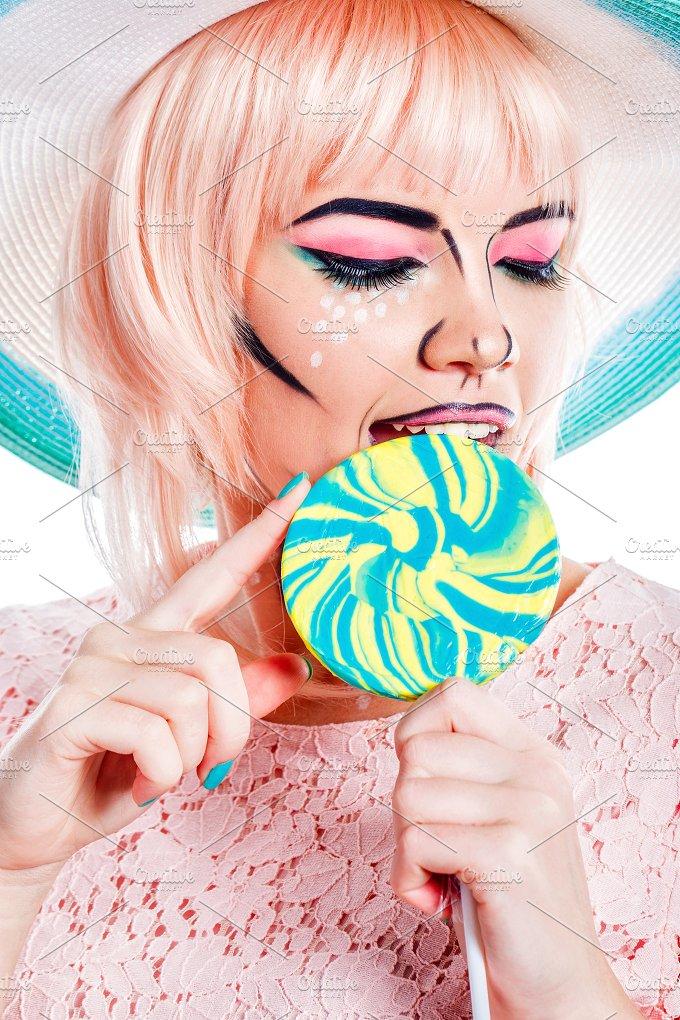 Sweety. Pleasure. Girl. Lollipop - People