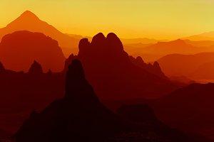 Sahara Desert, Hoggar mountains